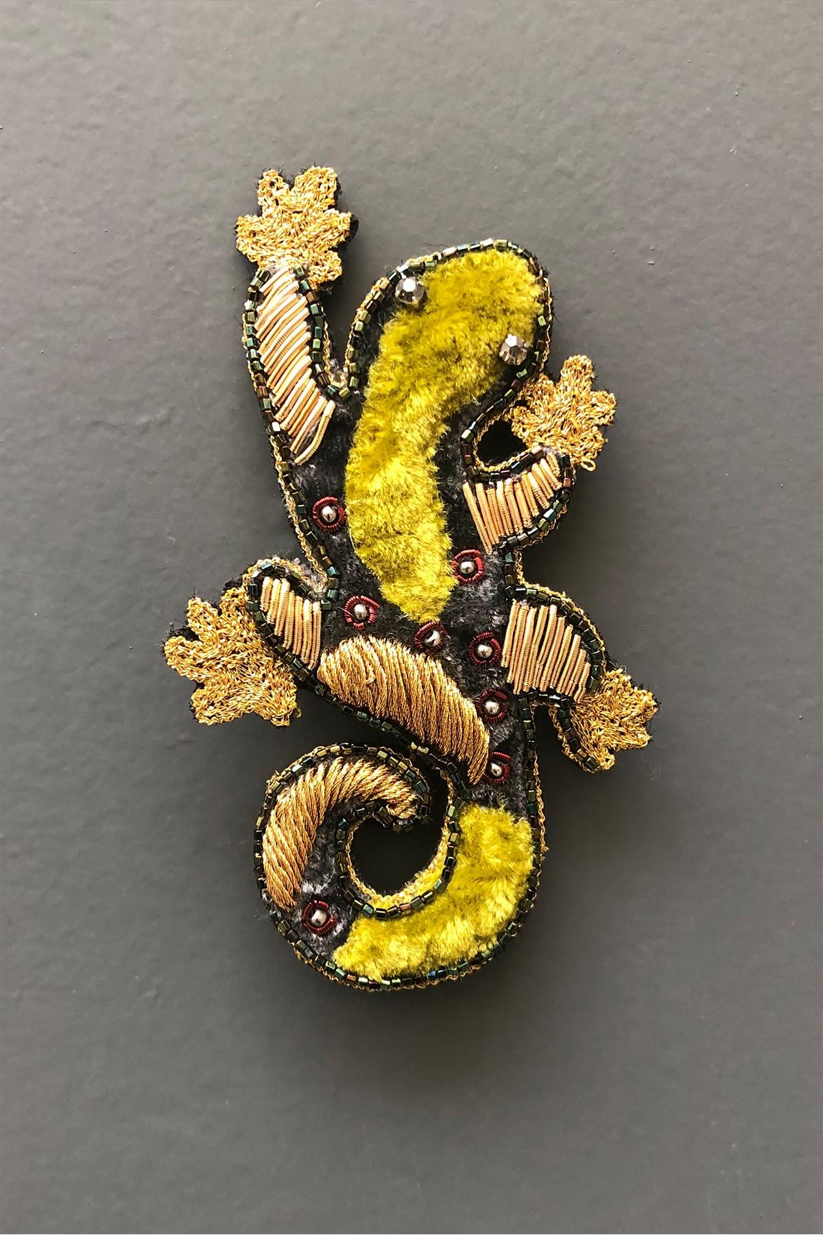 Broche Salamandre - LICHEN